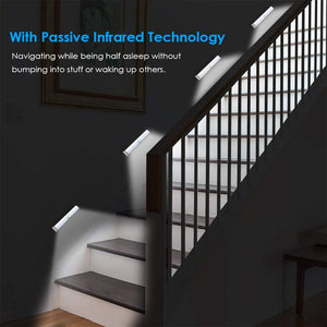 Motion Sensor Light, 10 LED Bulbs Battery Operated Wireless Motion Nightlight Portable Magnetic Security Closet Light Stick Up Motion Sensor Night Lights for Closets Hallway Stairway