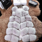 Women's Plus Size Faux Fur Vest