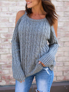 Round Neck Long Sleeve Basic Sweater
