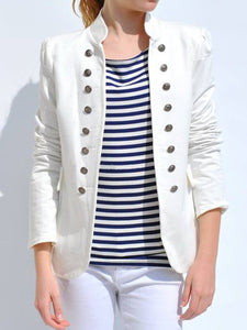 5 Colors Plain Double Breasted Blazer