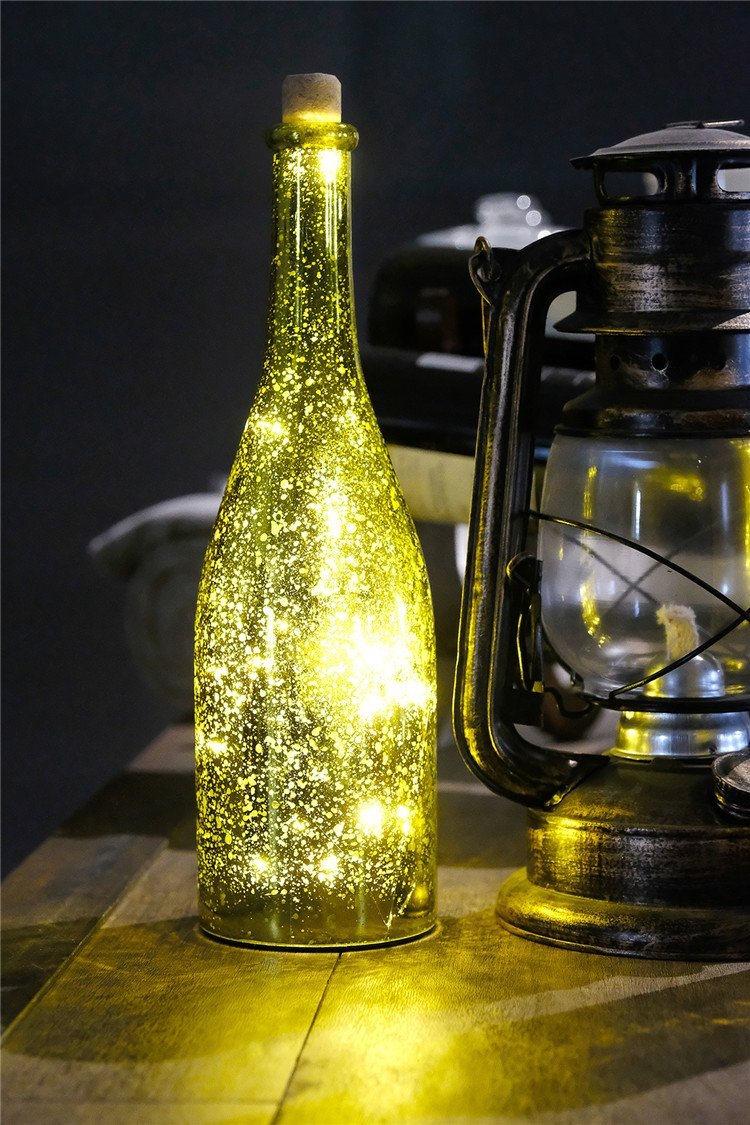Wine Bottle Lights with Cork Battery