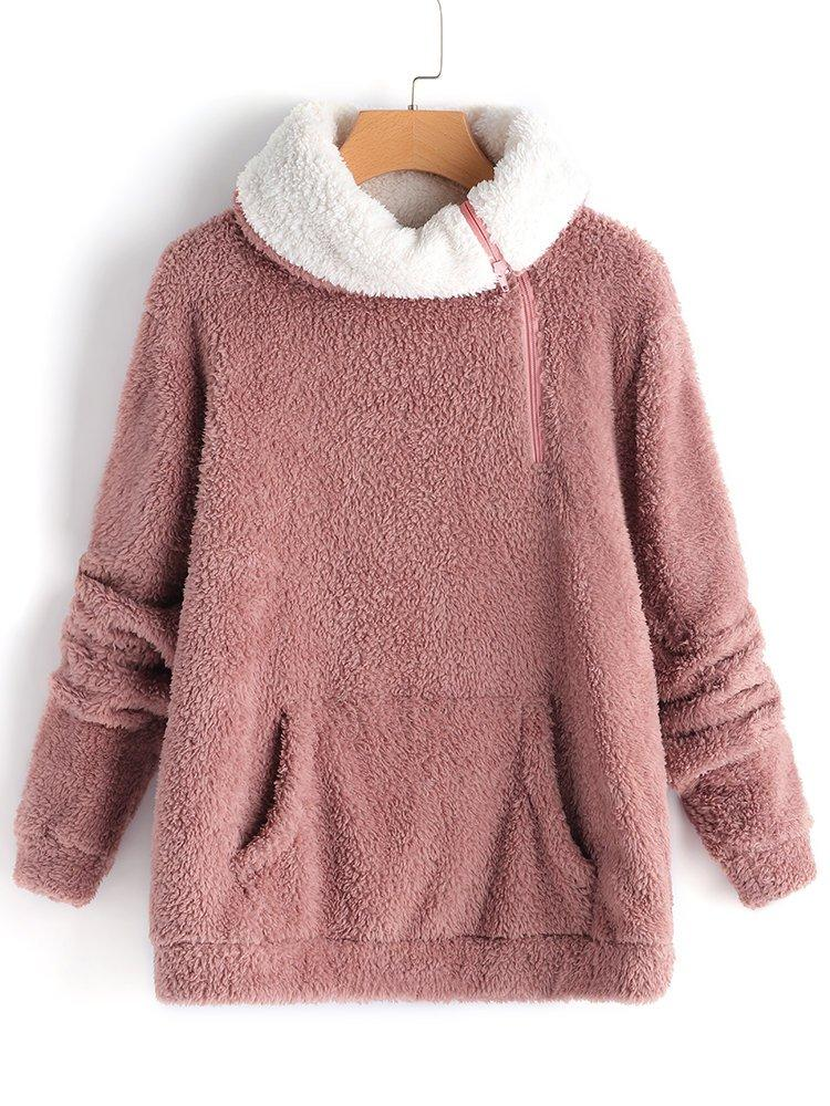 Warm Pink Turtle Neck Sweet Sweaters