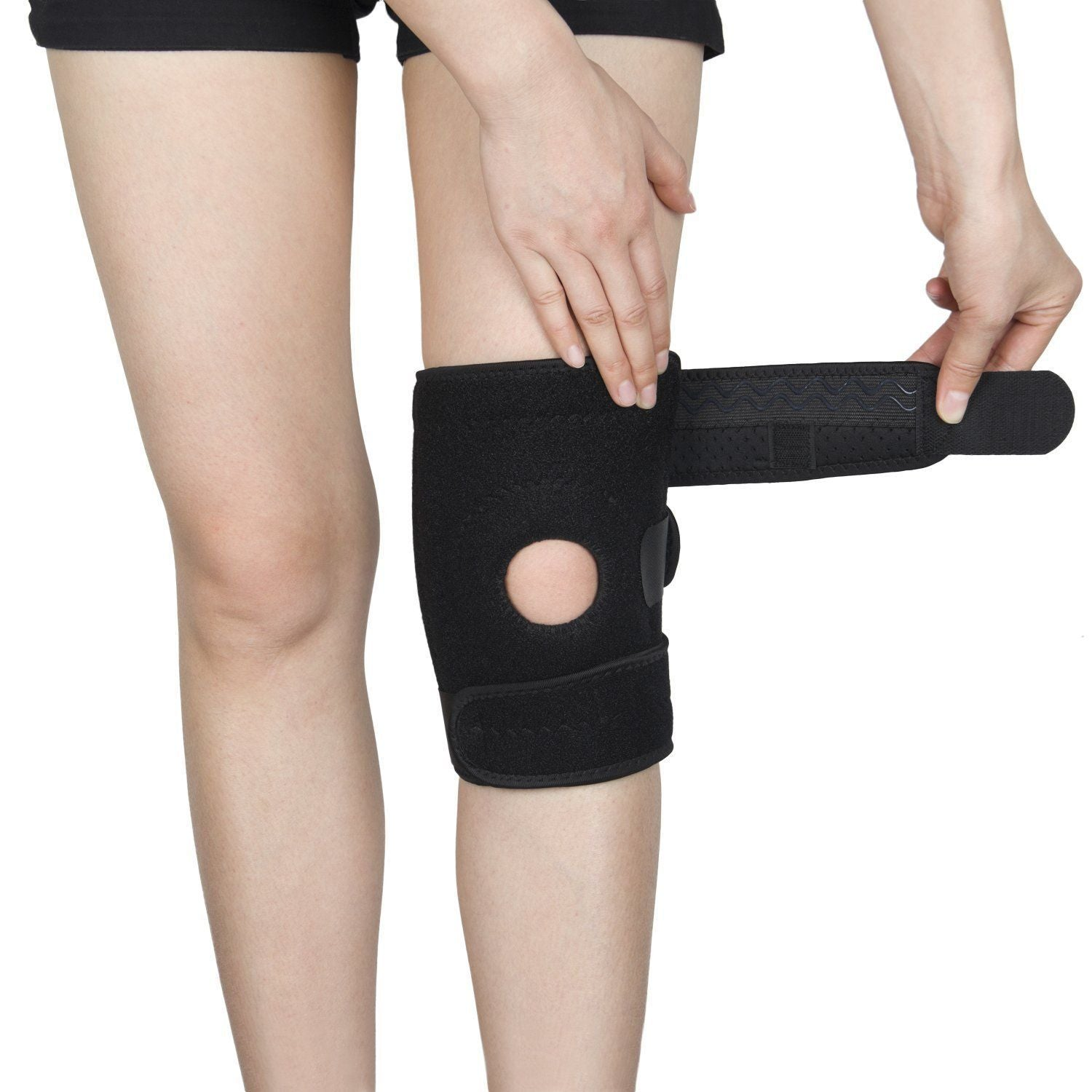 Knee Brace Patella Stabilizer Support Open Sleeve