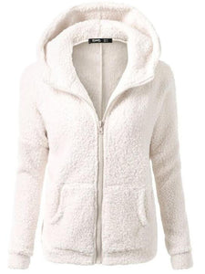 Casual Long Sleeve Hooded Coat