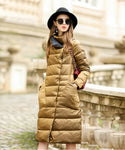 Luxury Winter Women Long Casual Down Coat