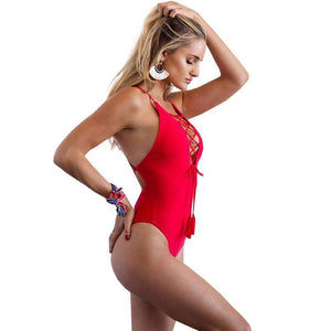Betty - One Piece BodySuit Bandage Monokini Swimwear