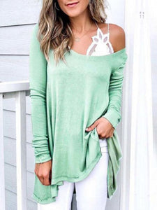 Round Neck Elegant Shirt