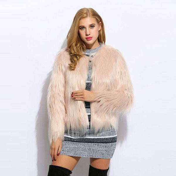 Stylish Womens Fur Jacket