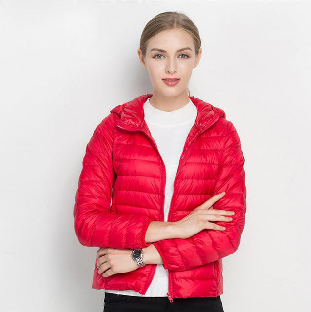 Women Ultra Light Hooded Down Jacket - Buy 1 Get 1 Free Down Vest