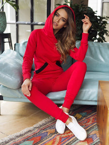 Comfort Casual Hoodie Two Pieces Women Sets