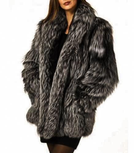 Long Sleeve Collar Pockets Fur Coats