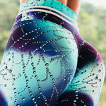 Aqua Dream 3D Print Push Up Workout Leggings