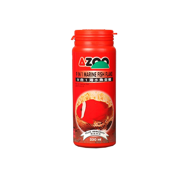 Alimento para Peces Azoo 9 in 1 marine fish flake (hojuela para peces marinos) 330 ml / 45 g - TheReefWare