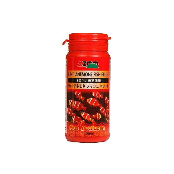 Alimento para Peces Azoo 9 in 1 anemone fish food (alimento especial para peces payasos) 120ml - TheReefWare