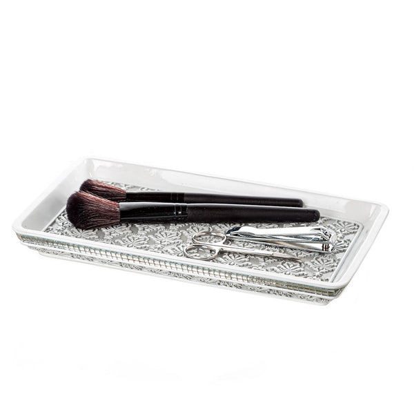 Mirror Damask Vanity Tray