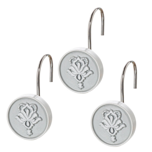 Mirror Damask 12 Shower Hooks