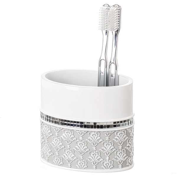 Mirror Damask Toothbrush Holder