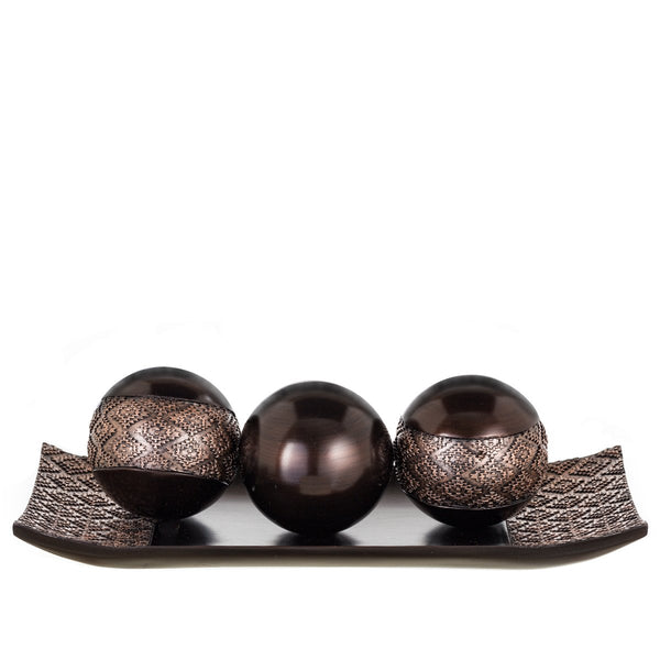 Decorative Dublin Tray /3 Orbs