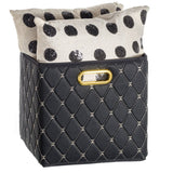Leather Basket, Black