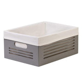 Wooden Gray Storage Bins - Large