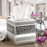 Brushed Nickel Tissue Box Cover Square