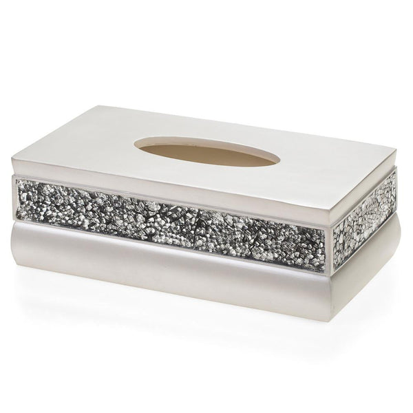 Brushed Nickel Rectangle Tissue Box
