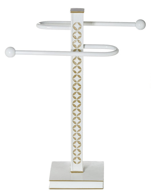 Diamond Lattice Towel Stand