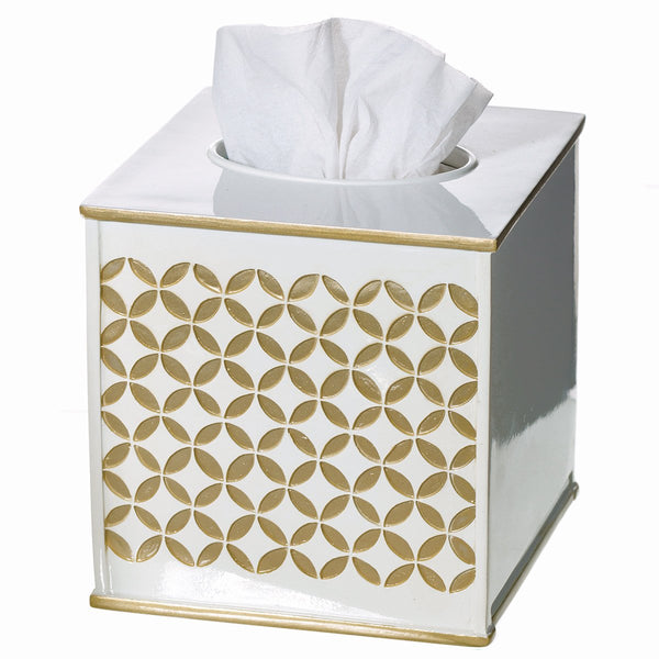 Diamond Lattice Square Tissue Box