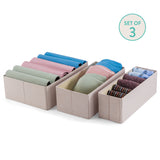 3Pcs Set Decorative Foldable Organizers - Twilight Linen