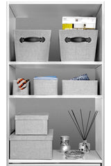 Storage Boxes set of 3, Gray Birch