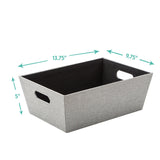 Medium Open Bin, Gray Birch
