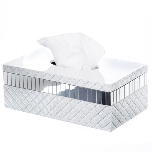 Quilted Mirror Tissue Box (rectangle)