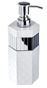 Quilted Mirror Lotion Dispenser