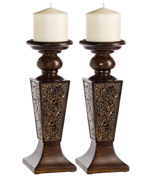 Schonwerk Decorative Candle Holder  (set of 2) - Brown