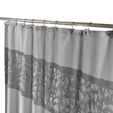 Brushed Nickel Shower Curtain / Liner