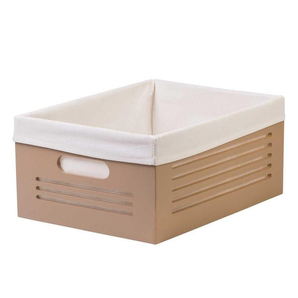 Wooden Tan Storage Bins - Large