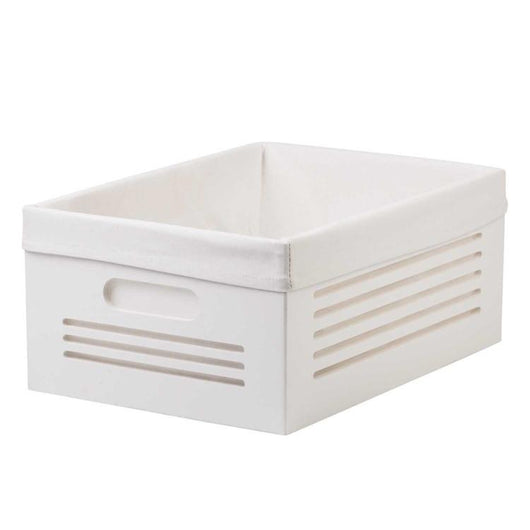 Wooden White Storage Bins - Large