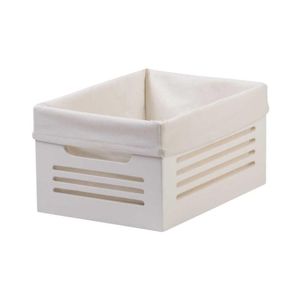 Wooden White Storage Bins - Small