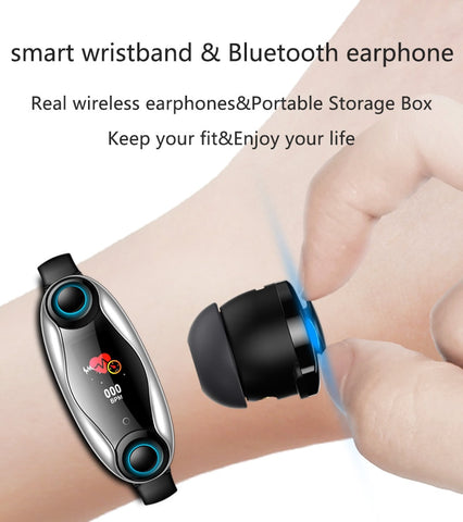Image of Smart Watch With Bluetooth Earphone