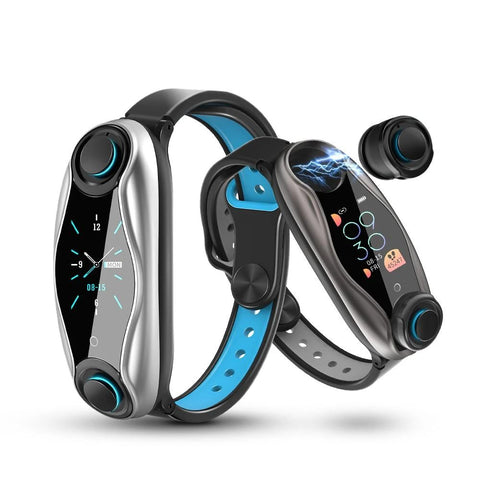 Smart Watch With Bluetooth Earphone