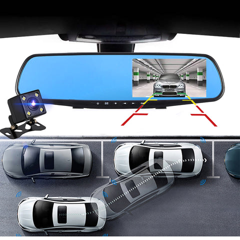 Full HD Car DVR Views Recorder Mirror
