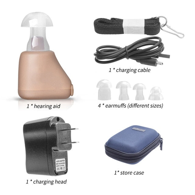 Rechargeable Hearing Aids Sound Amplifier