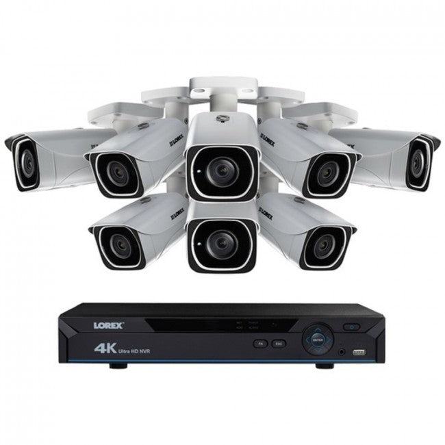 Lorex LNR610828KB 8-Channel 4K HD 2TB NVR with Eight 4K Bullet Security Cameras