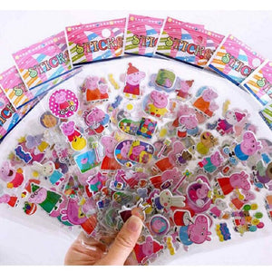 10pcs/set Peppa pig Sticker toy Patrulla Canina Action Figures Toy Kids Children Toys Gifts