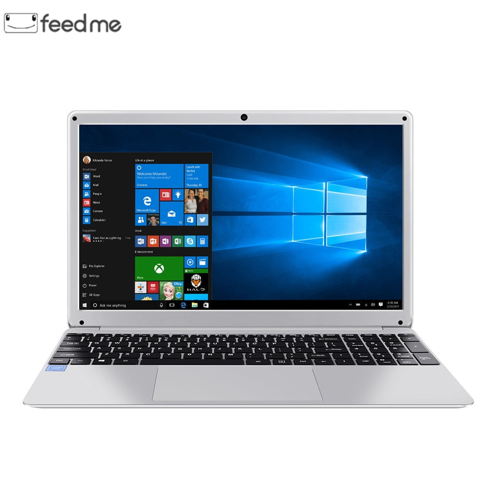 15.6 Inch 1920*1080 Laptop Windows 10 Intel E8000 Quad Core 4GB RAM 64GB ROM Notebook with Full Layout Keyboard