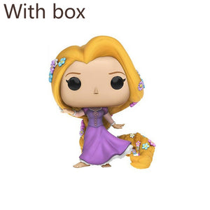 FUNKO POP Princess Beauty and The Beast Belle Ariel Rapunzel Cinderella Tiana Action Figures Elsa PVC Model Collection Gift