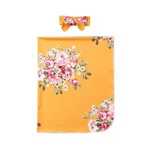 PUDCOCO  Newborn  Floral Snuggle Swaddle Blanket Baby Boys Girls Sleeping Bag Wrap Headband Cloth  0-3M