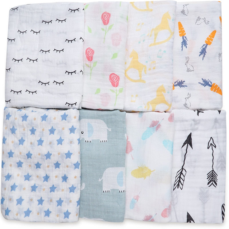 Dropshipping Infantil Baby Blankets Newborn Photography Props Multiuse Diapers Feeding Scarf Swaddle Baby Bath Towel Baby Stuff