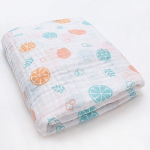 Fashionable Swaddle Wrap Cotton Baby Receiving Blanket Newborn Baby Bed Stroller Accessories Cartoon Infant Sleeping Blanket