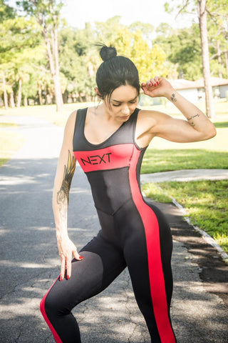 NEXT - Jumpsuit | Black and Red